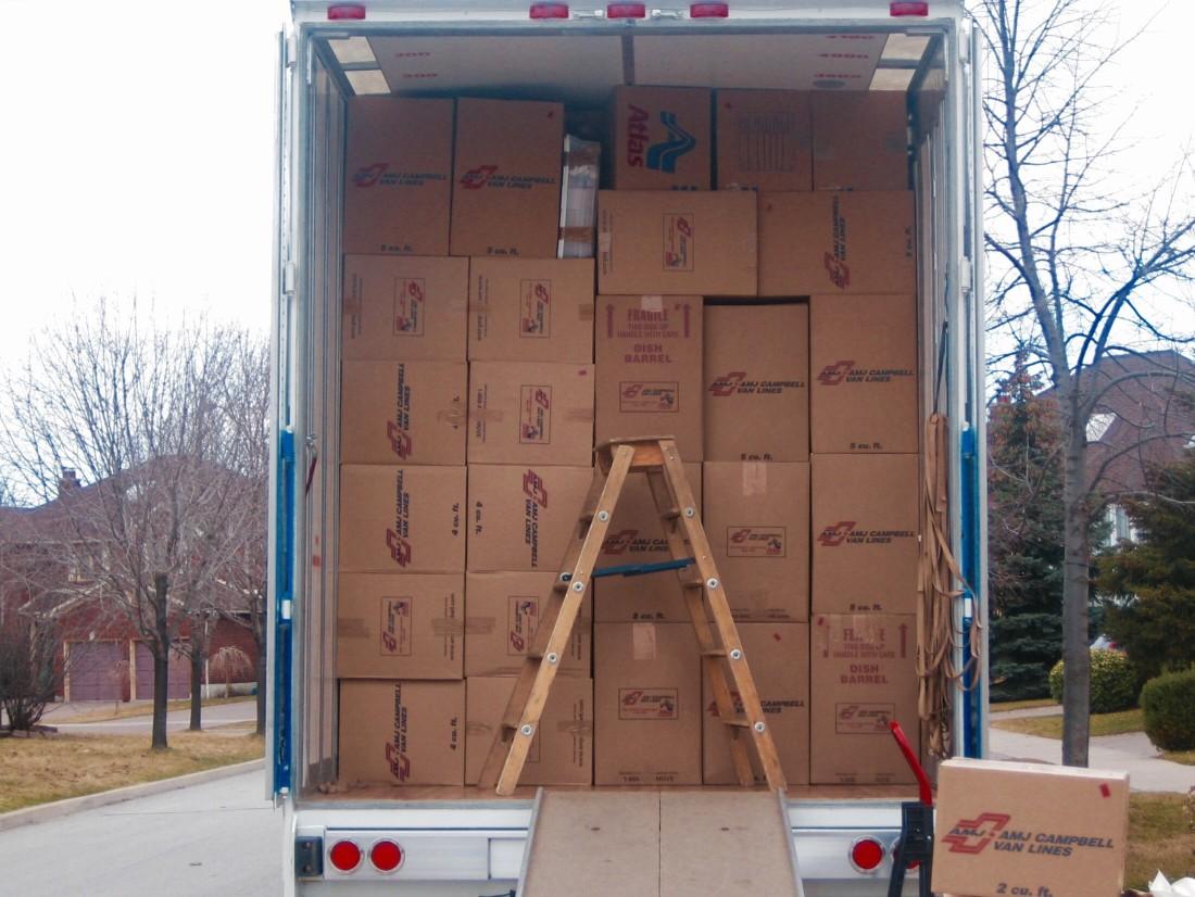 camions de déménagement